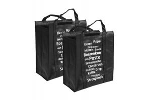 Set van 2 big shoppers Easy Shopping: 45x20x52cm
