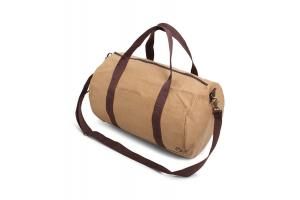 Washed kraft dufflebag
