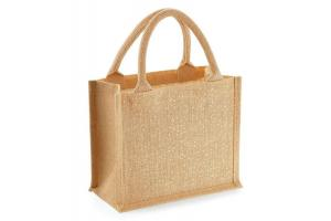 Jute mini gift bag Shimmer: 26 x 14 x 22 cm