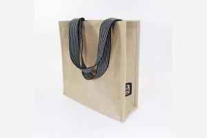 Big Fair jute shopping tote bag: 34x11x34cm