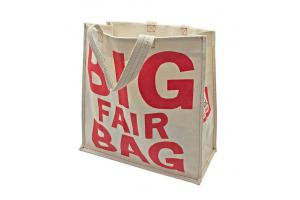 Big Fair canvas shopping tote bag: 42x14x40cm
